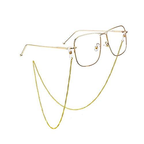 YUNHOME Sonnenbrillenkette Brillenkette Brillenband Brillenschnur Gläser Kette Rose Gold Weibliche Titanstahl Hängender Hals Netto Rot Dekorative Augen Anti-Seil-Wasserwellenkette Rose Gold