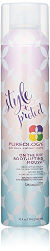 Pureology Style + Protect On The Rise Root Lifting Mousse | For Flat, Color-Treated Hair | Medium Control & Volume | Sulfate-Free | Vegan | Updated Packaging | 10.4 Oz. |
