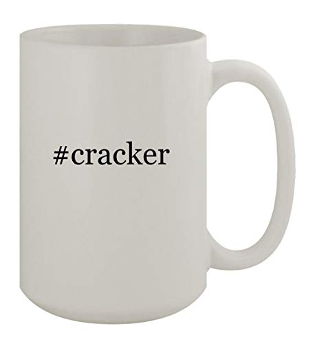 #cracker - 15oz Ceramic White Coffee Mug, White