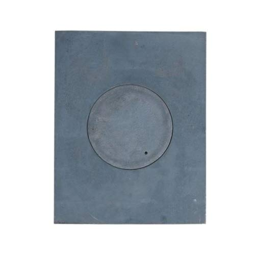 QLS Platte zum Ofen Gussplatte mit Herdring Gusseisen Kochfeld Herdplatte 46x36cm