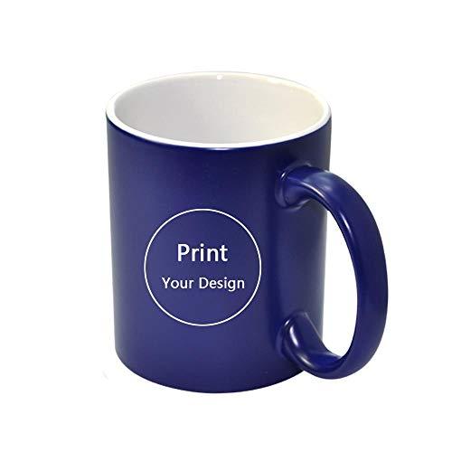 Taza mágica personalizada con foto sensible al calor, tazas personalizadas de café con leche que cambian de color, impresión de regalo, fotos H1128, azul