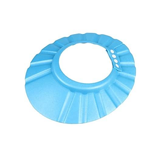 YSJJOSX Gorro Ducha Bebe 1 UNID Ajustable BEBÉ NIÑOS NIÑOS Shampoo BAÑO Ducha Casquillo Hat Lavado Peluquería PROTECCIÓN DE Ojos (Color : Blue)