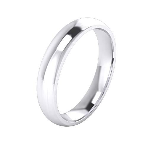 Unisex Sterling Silver 4mm Super Heavy Court Shape Polished Wedding Ring (Q)