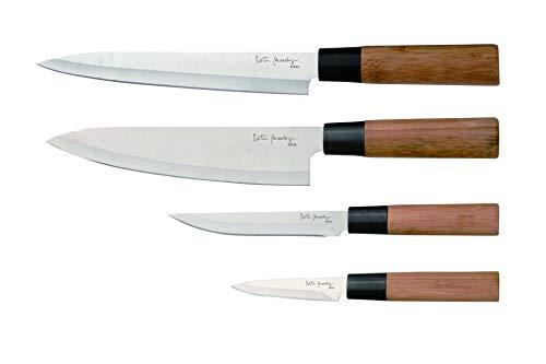 Martin Berasategui - Set de 4 Cuchillos de bambú