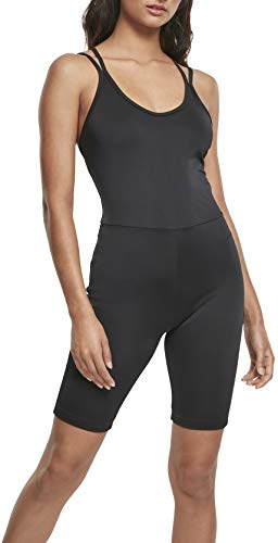 Urban Classics Jumpsuit Ladies Cycle Einteiler Pantaloni Eleganti, Black, XXL Donna