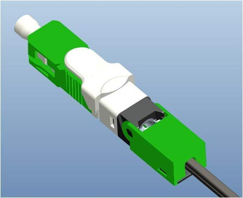 Without brand FMN-Home, ESC250D SC APC SM Monomode Fibre Optique Rapide Modèle Rapide Connecteur Rapide Connecteur FTTH (Taille : 300 pcs)