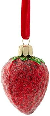 for Glass Frosted Strawberry Ornament 3922829 Holiday Seasonal Collectibles product image