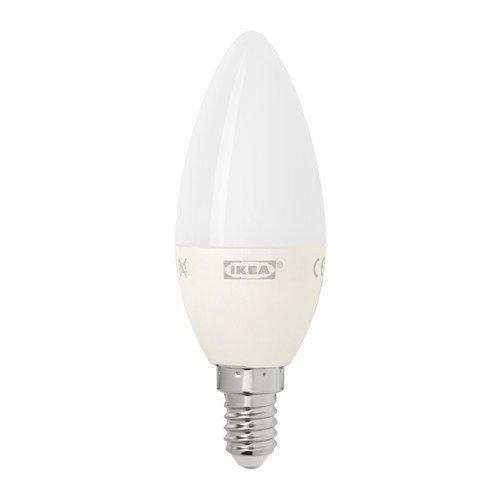Ikea LEDARE LED-lamp E14; kaarsvormig; in opaalwit; 400 lumen; 6 W; A+