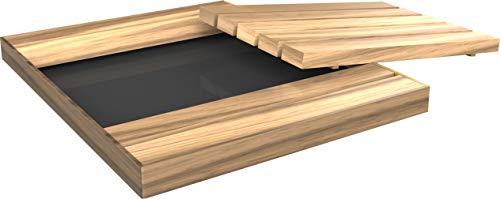 Arkema Receveur de douche extérieur en bois d'okoumé, 6 x 100 x 80 cm, couleur bois