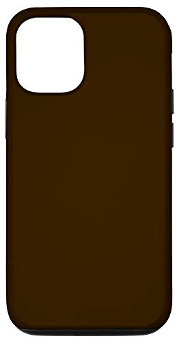 iPhone 12/12 Pro Chocolate Brown Matte Solid Color Case