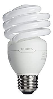 Philips LED 417097 Energy Saver Compact Fluorescent T2 Twister  A21 Replacement  Household Light Bulb  2700-Kelvin 23-Watt  100-Watt Equivalent  E26 Medium Screw Base Soft White 4-Pack