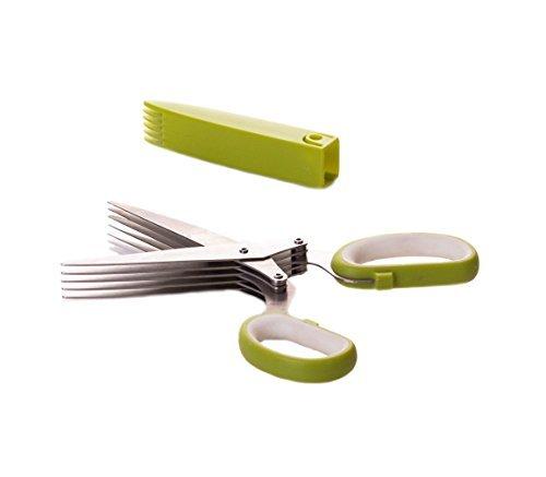 Select Culinary 5枚刃 ハーブはさみ カッター ステンレススチール マルチブレードはさみ