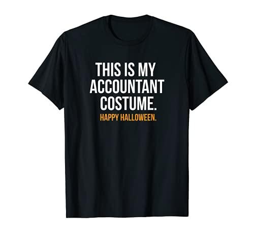 Este es mi disfraz de contable divertido Halloween Camiseta