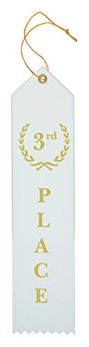 Award Ribbons Place 1st 2nd 3rd 4th 5th Premium Flat Carded Set - Blue Red White Yellow Green & Event Card 12 Each (60 Pack) - by Clinch Star Photo #5