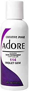 Adore Shining Semi Permanent Hair Colour, 114 Violet Gem by Adore