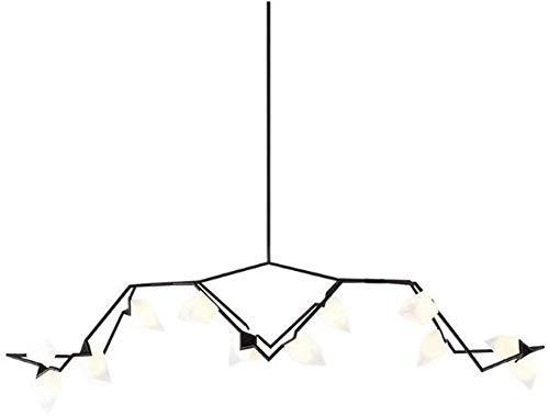 Inicio Equipamiento Aplique de pared Araña de Europa del Norte 12 Colgantes de luz Lámpara Araña negra Colgantes de cuerpo Luz para fregadero de cocina Isla de cocina Comedor Colgantes Linterna G9