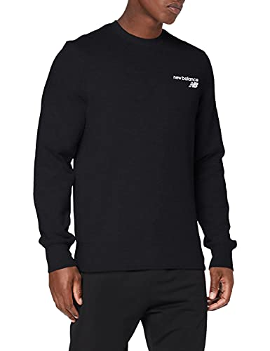 New Balance Top Nb Classic Core - Camiseta de forro polar para hombre, Camiseta, MT03911, negro, XXL
