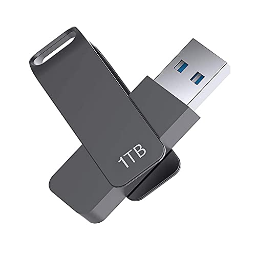 Memoria USB 3.0 impermeable de 1000 GB con llavero para PC, portátil, datos externos...