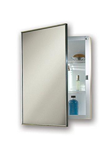 "Jensen 422SMX Stainless Steel Frame Medicine Cabinet, 14"" x 20"""