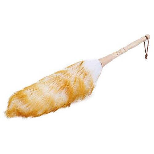 Changor Soft Dustner, Cepillo de Limpiador de 50x15cm de Limpiador con Lana Pura y Madera de bambú