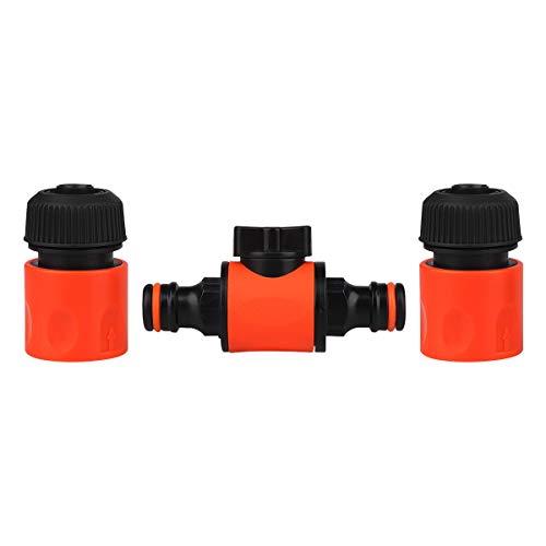 Premium Gartenschlauch Kupplung Wasser Schlauchverbinder für 13mm (1/2 Zoll) Wasserschläuche, Hoher Haltkraft Abzweig Verbinder für Schlauchverbindung
