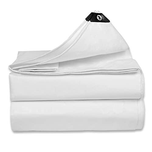 LIUDINGDING-zheyangwang Paño Blanco A Prueba De Lluvia, Aislamiento Térmico Impermeable, Sombrilla De Lona De PE para Exteriores Y Toldo De Lona De Plástico para Lluvia(Size:19X19ft/6X6m)