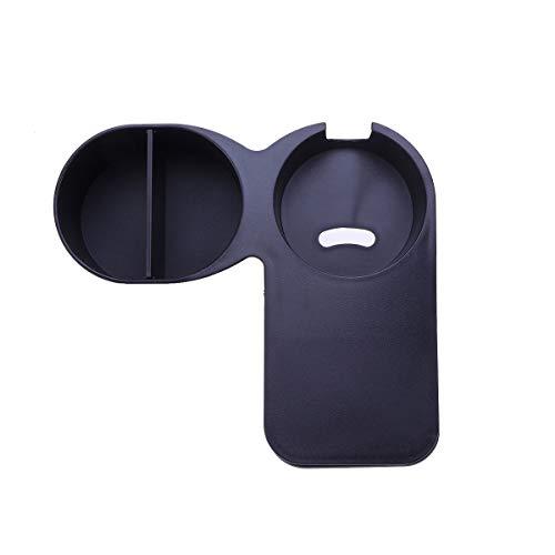 HEMOTON Black Multifunction Desk Side Huge Clip Drinking Cup Holder Clip Teacup Clamp Tabletop Gadget Storage Saucer Clip