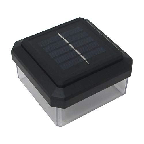 4er Set LED Abdeckkappen für 90 x 90 mm Zaunpfosten Solar Pfostenkappe Zaunpfosten Abdeckung