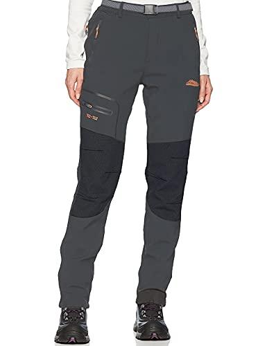 DAFENP Pantalones Trekking Mujer Impermeable Pantalones de Escalada Senderismo Alpinismo Ligero Secado Rápido Transpirable Aire Libre (XS, A Gris)