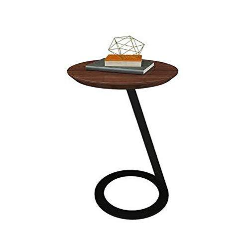 LIZANAN Sólido Lateral de Madera, Hierro Forjado tamaño pequeño Esquina Creativo del café, Mesa de la Sala de Ministerio del Interior Mesa Pequeña Pequeña Hogar
