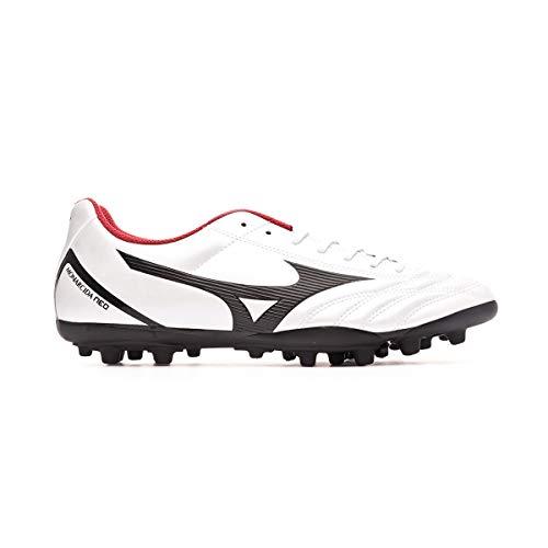 Mizuno Monarcida Neo Sel AG, Bota de fútbol, White/Black/Chinese Red