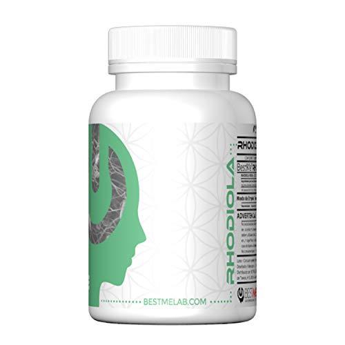 BESTME RHODIOLA ROSEA comprimidos 300mg. Suplemento para la memoria y el rendimiento mental Resistencia , Mejora el estado de ánimo - Control del Estrés - 3% de Rosavinas.30 Cápsulas