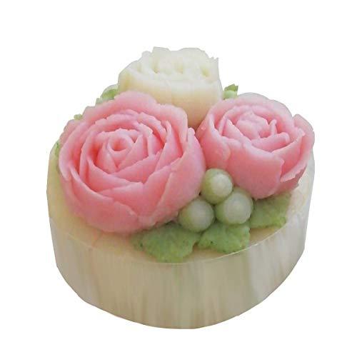 ミニサイズ ピンク系 7cm ローズ3 ささみ 犬用ケーキ 誕生日 ペットケーキ ワンコケーキ 犬ケーキ 猫用ケーキ フラワーケーキ