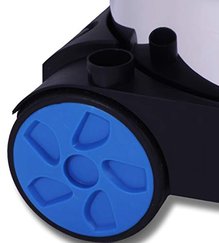 Masko® Industriestaubsauger – blau, 1800Watt ✓ Mit Steckdose ✓ Blasfunktion ✓ GS-Geprüft | Mehrzwecksauger zum Trocken-Saugen & Nass-Saugen | Industrie-Sauger verwendbar mit & ohne Beutel | Wasser-Staubsauger beutellos mit Filterreinigung - 5