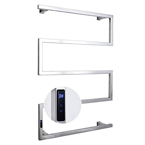 LHZHG Toallero calefactable Smart Touch, baño Toalla de calefacción eléctrica Radiador Montado en la Pared, 304 Stainless Steel, IP56 a Prueba de Agua, Uso Ideal para Baños