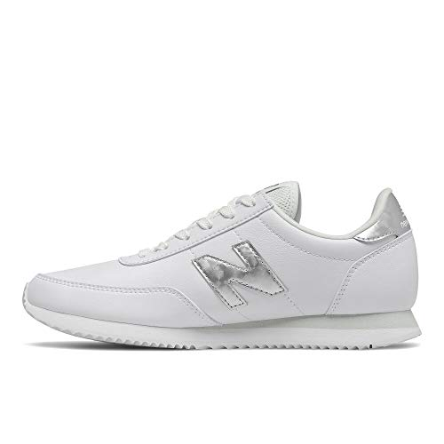 New Balance womens 720 V1 Sneaker, White/Silver, 7 US