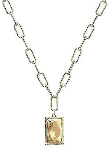 LKLFC Collar para Mujer Collar para Hombre Collar Colgante Collar de Mujer Collar de Cadena de clavícula Cadena Colgante para Mujeres Hombres Collar Colgante Regalo para niñas Niños