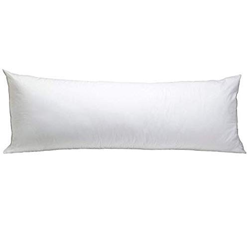 Body Pillowcase 21X60 Set of 1 Body Pillow Cover with Zipper Closer 500 Thread Count 100% Egyptian Cotton Body Pillow Pillowcases White Solid 21 x 60
