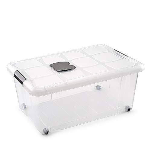 Metaltex - Caja de Ordenación con Ruedas 36 L (59 x 40 x 25 cm)