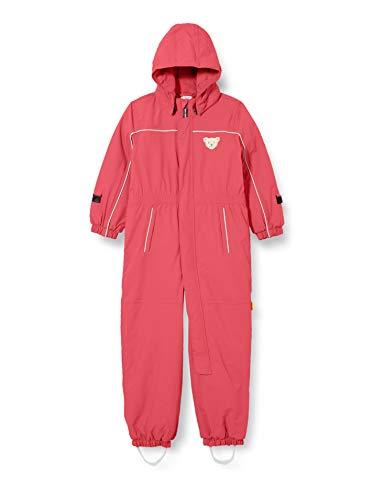 Steiff Baby-Unisex mit süßer Teddybärapplikation Schneeanzug, Rosa (Pink), 110