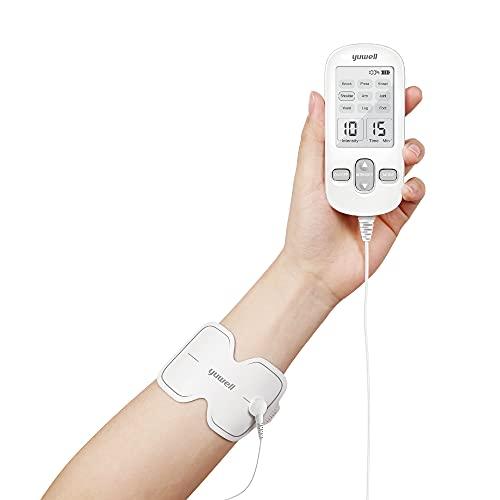 yuwell - Tens Elettrostimolatore Nervoso e Muscolare 3 in 1 - Terapia del Dolore e Sviluppo Muscolare EMS e Effetto Massaggiante Dimagrante - Pratico e Compatto con Ricarica USB - 9 Livelli di Forza