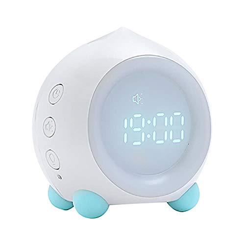 Kinderen Slaaptrainer Wekker Lichtregeling Slimme wekker Intelligent nacht LED-lamp Woondecoratie Klok, wit