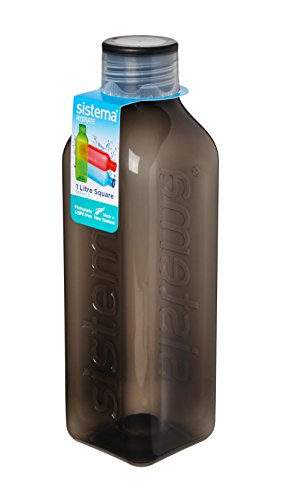 Sistema Square Water Bottle, 1 L Colours, Assorted Color