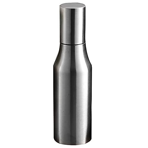 1000 ml de aceite de vinagre de acero inoxidable dispensador de aceituna olla a prueba de fugas cocina saludable salsa barco especias almacenamiento lata