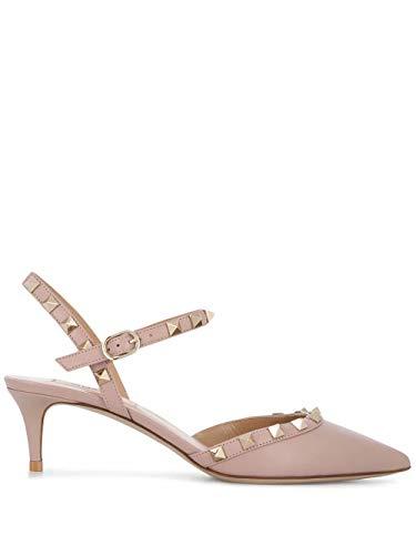 Valentino Luxury Fashion Garavani Damen TW0S0W50VODP45 Rosa Leder Absatzschuhe | Jahreszeit Permanent