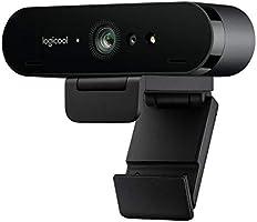 كاميرا ويب بريو ستريم من لوجيتيك؛ دقة تشغيل الفيديو ألترا إتش دي بدرجة 4K، بدقة 1080p / 60 إطارًا في الثانية، تشغيل...