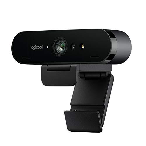 Logitech Brio Stream Webcam, Diffusion Vidéo Full HD 1080p à 60ips, Débit d'Image Ultra-Rapide, Correction d Éclairage HD, Pour Skype, Google Hangouts, FaceTime, Pour Gamer, Portable PC Mac - Noire