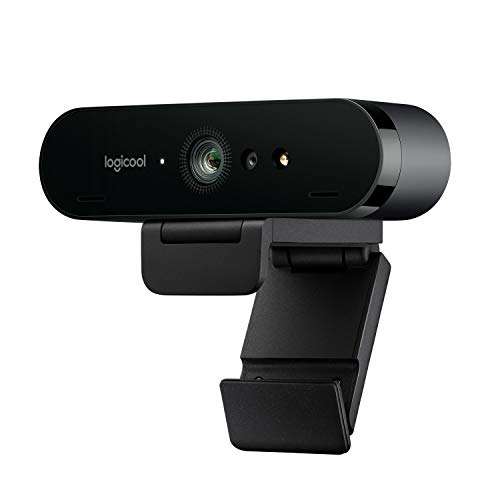 Logitech Brio Stream Webcam, per Streaming Ultra HD 4K Veloce a 1080p/60fps, Campo visivo regolabile, Funziona con Skype, Zoom, Xsplit, Youtube, PC/Xbox/Mac, Nero