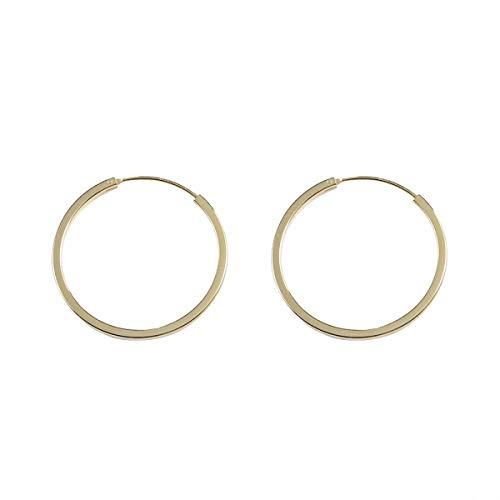 Lotus Fun S925 Sterling Silber Ohrringe Schlichte und Stilvolle Runde Kreis Ohrringe Persönlichkeit Temperament Schmuck für Frauen und Mädchen