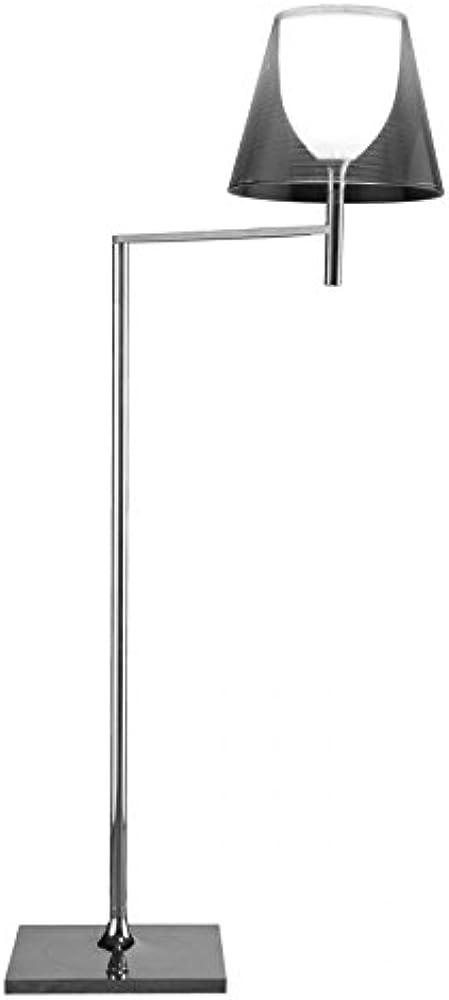 Flos - lampada da terra flos ktribe f1 - argento supporto diffusore in alluminio e  portalampada, verniciato F6265004